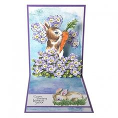 Created Using Stampendous Backyard Bunnies Die & Stamps 1