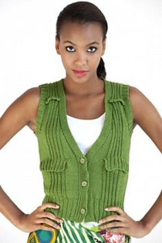 Olive You Fitted Vest in COTTON CLASSIC LITE