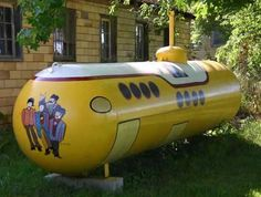 Who needs a propane tank when you can have a Yellow Submarine?