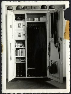 The inside of a Waffen-SS locker.