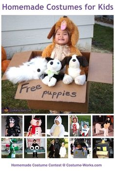 DIY Costumes for Kids - a huge gallery of homemade Halloween costumes!