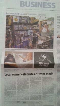 Story on our store in the Fairbanks Daily News Miner