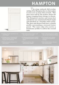 Hampton Style Kitchen Cabinet