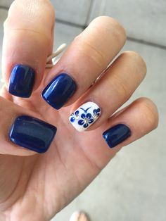 New nails invierno long 34 Ideas Best Acrylic Nails, Acrylic Nail Designs, Fancy Nails Designs, Short Nails Art, Long Nails, Dipped Nails, Flower Nails, Blue Nails, Trendy Nails