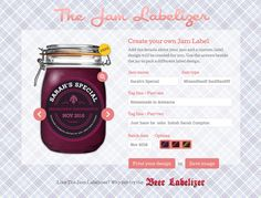 Create beautiful jam and preserve labels to print at home in less than 30 seconds. Choose from our free and premium designs, even upload your own images.