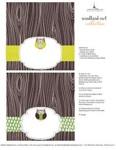 Printables: Free Woodland Owl Collection