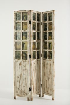 Wood Room Divider With Photo Frames 149 00 Or Find A Door And Make The Window Picture