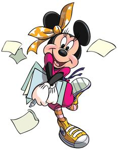 Minnie w/Papers