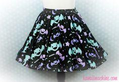 5dae0c16f90 Graveyard Shift Printed Skater Skirt (Bats