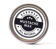 Mustache Wax Moustache Wax All Natural by SoapRevoltNaturals, $10.00