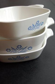 corningware blue cornflower dishes.  thanks to my mom and my aunt, i am building quite a collection, including the teapot and coffeepot!