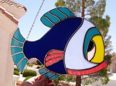 Stained Glass Colorful Fish 424 por StainedGlassbyWalter en Etsy