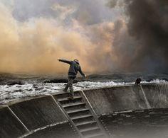 """photomontage """"facing the storm"""" mattijn november 2012"""