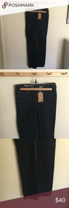 Madewell Rail Straight Jeans Dark Wash Size 27X36 New with tags! Madewell Jeans Skinny