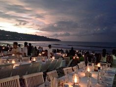 Dinner with a beautiful view at Jimbaran, Bali