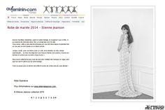 #EtienneJeanson #bridal #Guenièvre #lace #dress #Collection #broceliande #AuFéminin #Magazine #wedding #mariage