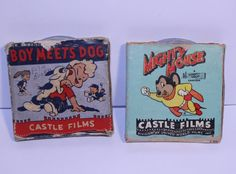 Boy Meets Dog and Mighty Mouse 8mm Film Vintage 8mm by UniquelyOdd