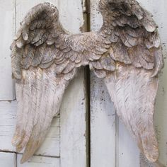 Large wings wall sculpture hand painted putty by AnitaSperoDesign
