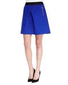 Tillah Zip-Pocket Skater Skirt, Blue by Ted Baker London at Neiman Marcus.