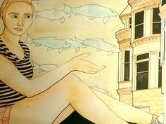 Buildings by Joy Zimmerman Multimedia  (Sharpie, paint wash, India ink )    11