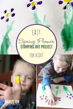 Upcycle a bottle and add a little paint in a fun spring flower art project for toddlers and preschoolers!