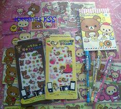 San x Rilakkuma Tuning Stickers x 2 Postcards x8 and 3 x Gel Pens Kawaii | eBay