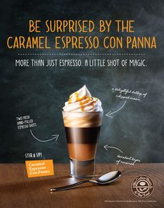 coffee poster Layered Con Panna and Cappuccino Poster Series on Behance Menue Design, Food Menu Design, Food Poster Design, Coffee Menu, Coffee Poster, Coffee Photography, Food Photography, Menu Café, Cafe Posters
