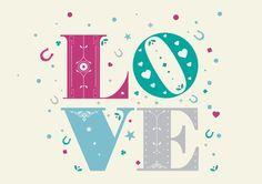 Love by Mick O'Beirne, via Behance