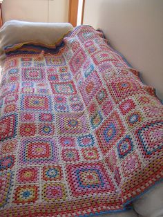 Granny square afghan | Flickr - Photo Sharing!