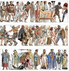 Milo Manara - History of Humanity. Wonderful artwork by Milo Manara, depicting human history. Sex, war to gain sex, more war to gain riches to have more sex. Manado, Serpieri, Human Evolution, History Timeline, Ancient Mysteries, Book Writer, Sex And Love, Cultura Pop, World History