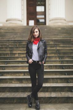 What Vero Wears: WEARING LEATHER JACKET & COMBAT BOOTS