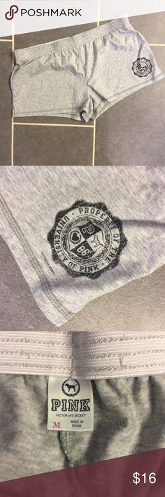 Soffee PINK Victoria's Secret  Gray Shorts EUC Worn minimal times. EUC. No trades. Smoke free home. PINK Victoria's Secret Shorts