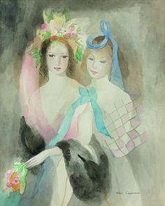 Marie Laurencin(1883ー1956)「Deux jeunes filles」