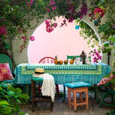 feels like a Mexican fiesta - Colourful small garden | How To Decorate With Pattern | Easy To Steal | Interiors | redonline.co.uk