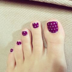 icy boysenberry polka www. Jamberry Pedicure, Jamberry Nail Wraps, Manicure And Pedicure, Pretty Toe Nails, Cute Nails, Toe Nail Art, Acrylic Nails, Polka Dot Nails, Toe Nail Designs