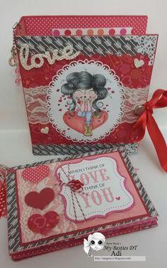 "Imagina, crea y sueña: Mini álbum en caja ""San Valentin""/ Valentines day mini álbum in a box"
