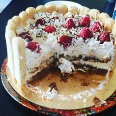 Strawberry - vanilla Charlotte cake