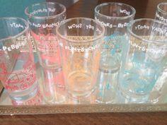 VINTAGE Flinstones 1960's Welch's Jelly Glasses set of 6 Have