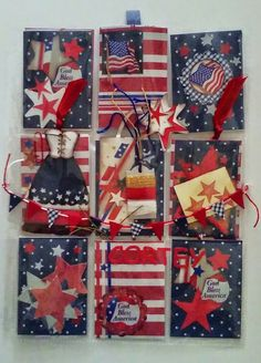 Pocket letter ideas, dress, banner, string samples, post it notes, washi Happy 4 Of July, 4th Of July, White Christmas, Christmas Cards, Pocket Full Of Sunshine, Pocket Pal, Atc Cards, Pocket Letters, Happy Mail