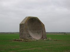 An acoustic mirror from WWI, this was a warning system against Zeppelin attacks and employed some of the same principals as Radar.