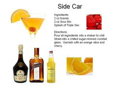 20s Themed Drinks | Midnight Mixologist:  Side Car