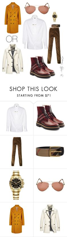 """""""By AD"""" by ashleydomenique ❤ liked on Polyvore featuring Burberry, Prada, Rolex, Wooyoungmi, men's fashion and menswear"""