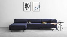 Sofa 2 places + Accoudoir Palo - Canapé design scandinave modulable   Hem.com