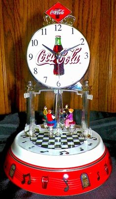 ❤Coca-Cola Diner Anniversary Clock my friend gave me this but it doesn't work. oh well.