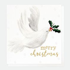 Caroline Gardner Painted Dove Christmas Cards Pack of 8 - Beaumonde Caroline Gardner, Christmas Cards, Merry Christmas, Scandinavian Christmas Decorations, White Doves, Happy New, Charity, Rooster, Greeting Cards
