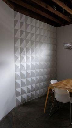 Want!!! DIY 3D Geometric Wall by STUDIOPLATA