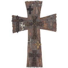 decorative Wooden Crosses  | Resin Wall Cross - Multi Crosses [WCR-43] - $24.99 : Find Christian ...