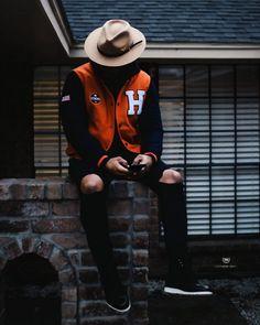 Black Men Street Fashion, Mens Fashion, Urban Men's Fashion, 3d Fashion, Fashion Ideas, Varsity Jacket Outfit, Style Noir, Men's Style, Gentleman Style