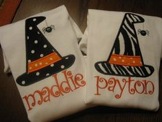 personalized Halloween shirts! Cute!