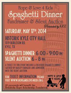 VOA spaghetti fundraiser on Pinterest